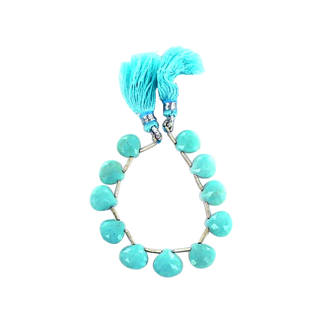 SLEEPING BEAUTY TURQUOISE BEADS FACETED BRIOLETTES 10mm