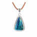 Chrysocolla Shattuckite Pendant Sterling Evening Blue