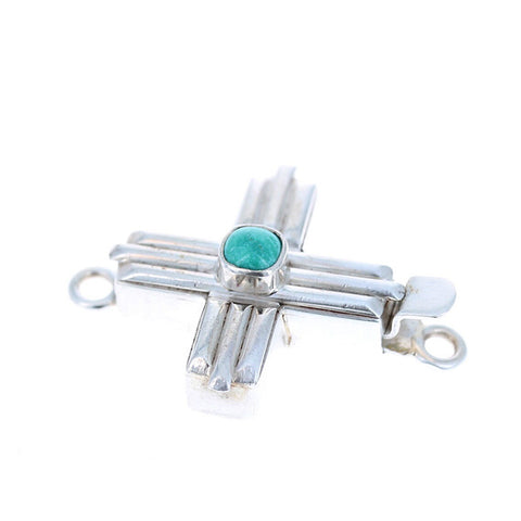 Fox Turquoise Southwestern Cross Clasp