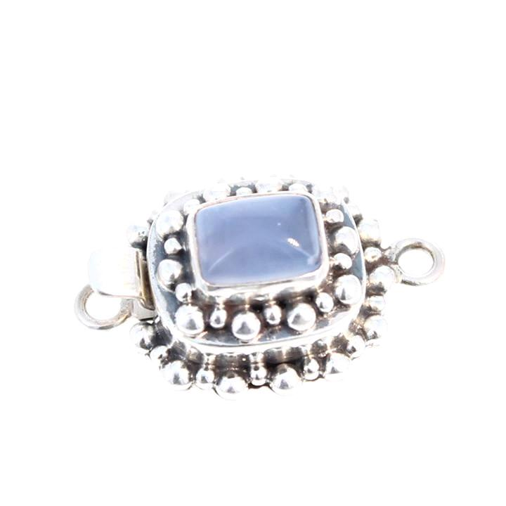 Chalcedony Clasp Cushion Shaped 10x8.5mm