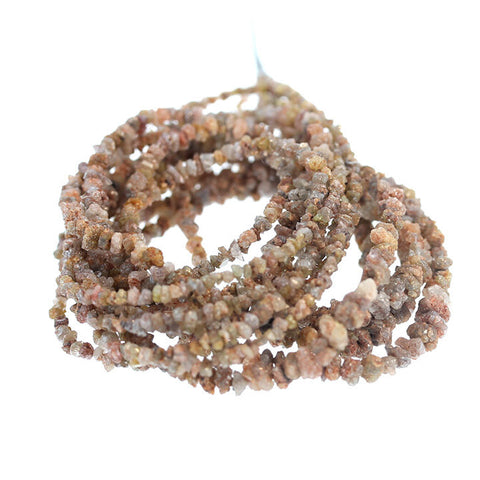 RED BRONZE DRUSY DIAMOND BEADS 2.5-4mm NUGGETS 16""