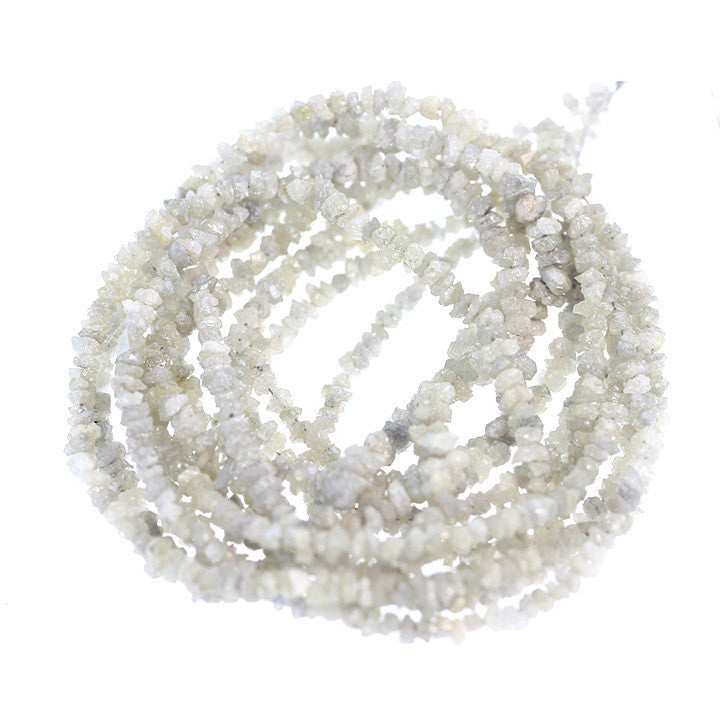 CHAMPAGNE DRUSY DIAMOND BEADS 2.5-3.5mm NUGGETS 16""