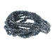 BLACK DRUSY DIAMOND BEADS 2-3.8mm 16""