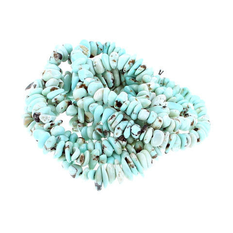 LONE MOUNTAIN TURQUOISE BEADS NUGGET PALE BLUE