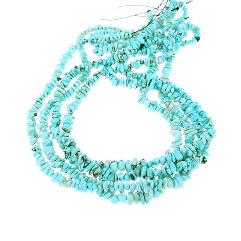 LONE MOUNTAIN TURQUOISE BEADS NUGGET LIGHT BLUE