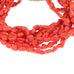 RED ITALIAN CORAL BEADS PEBBLE 6x7mm 18""