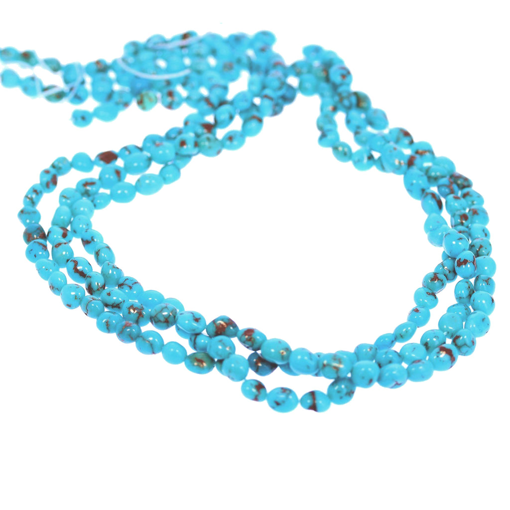 Egyptian Turquoise Beads Strand  6-7mm 16""