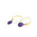 SUGILITE CARVED EARRINGS Teardrop Shells 24K Vermeil