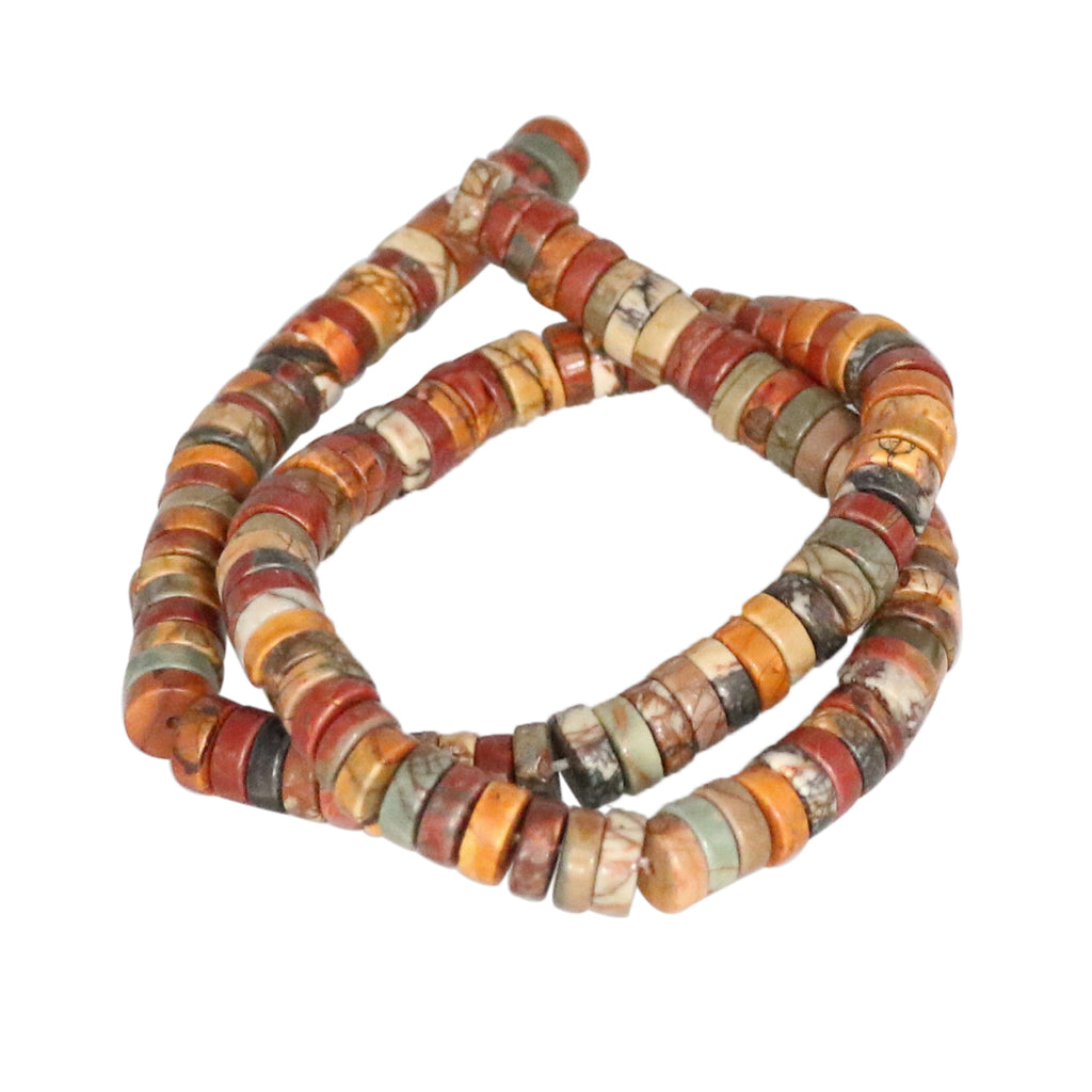 RED CREEK JASPER 8mm Button Beads