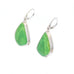 ALUNITE Earrings Sterling Silver Lime Green Large