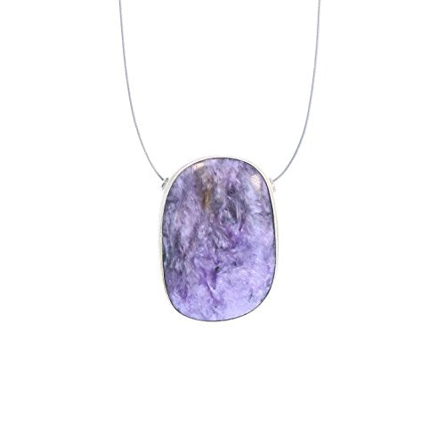 CHAROITE PENDANT STERLING Freeform Oval Component