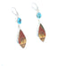 KINGMAN TURQUOISE and Sonora Sunrise Jasper Earrings #2