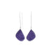 CHAROITE STERLING Earrings Elongated Teardrops