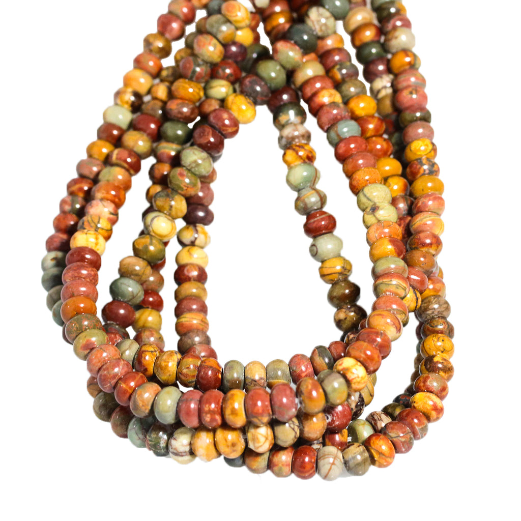 RED CREEK JASPER 8mm Rondelle Beads