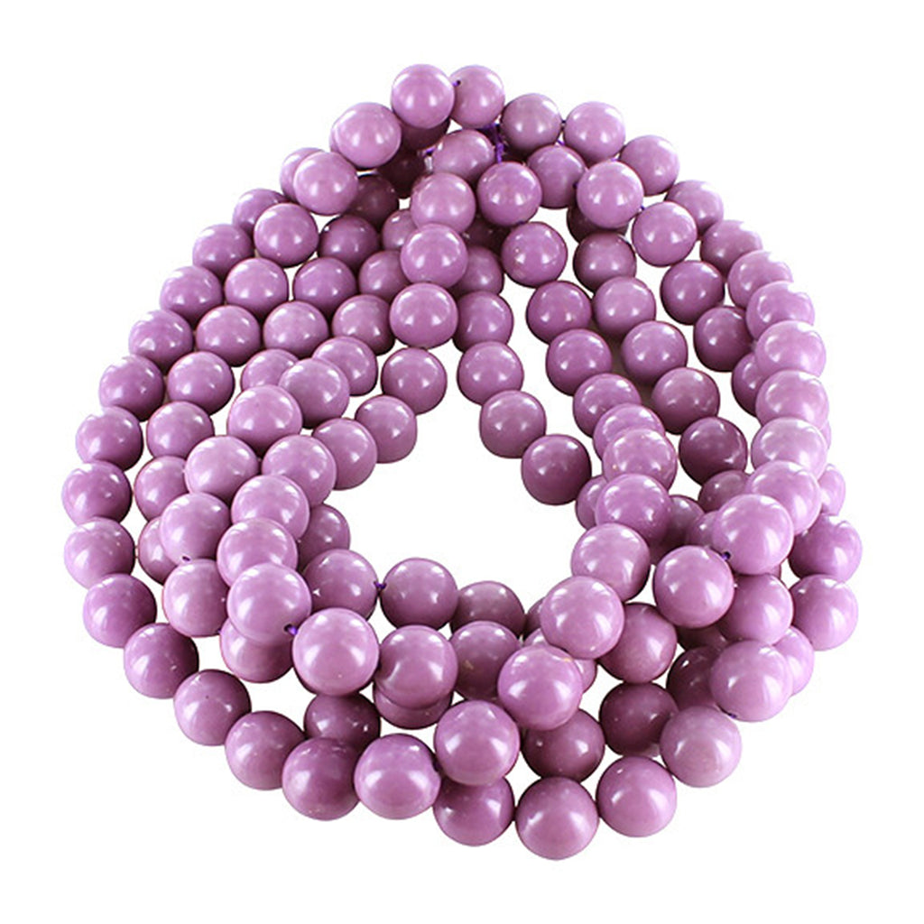 PHOSPHOSIDERITE ROUND BEADS 14mm AAA