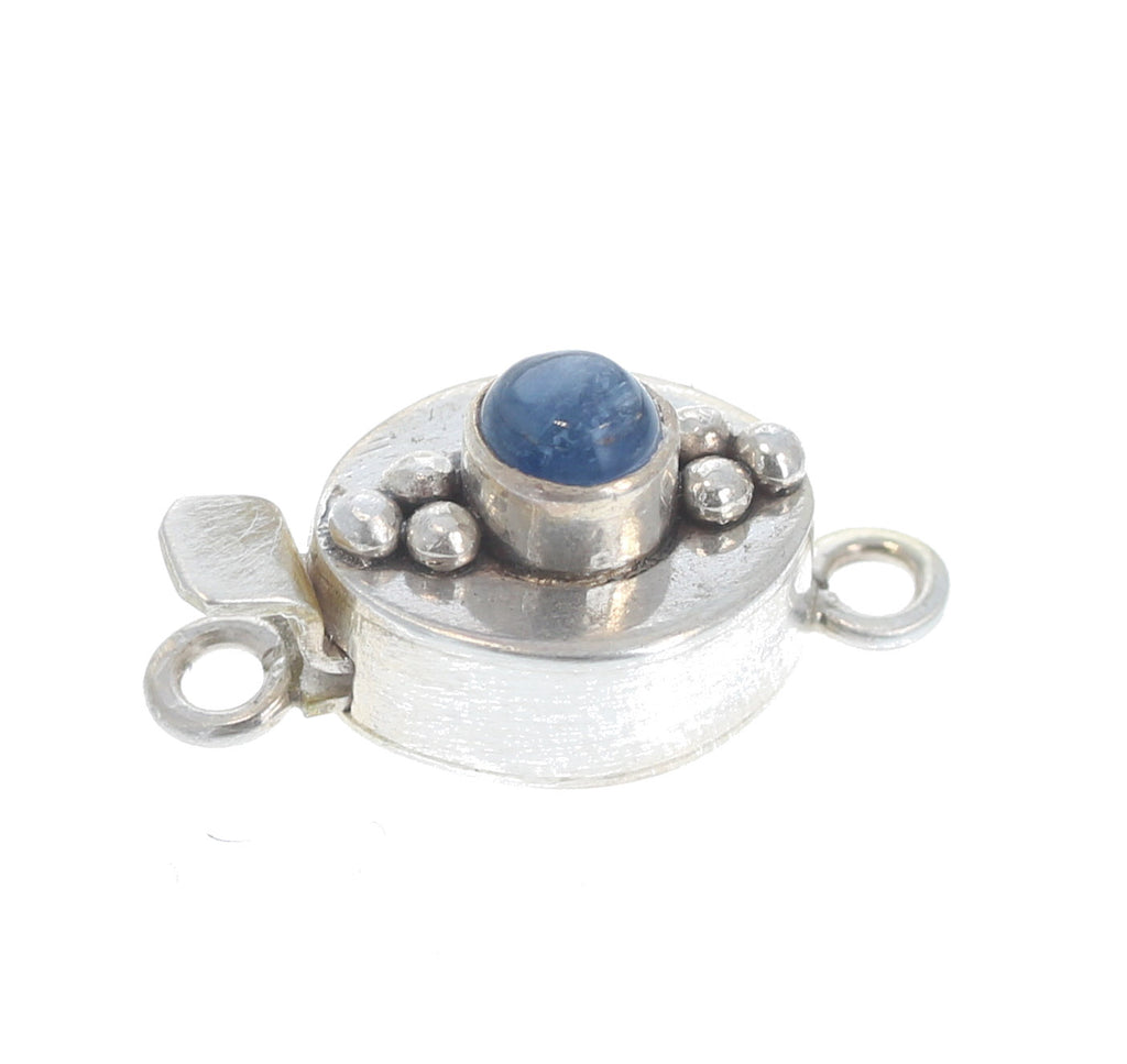 Kyanite Clasp 6 Dot Oval Stone 5mm