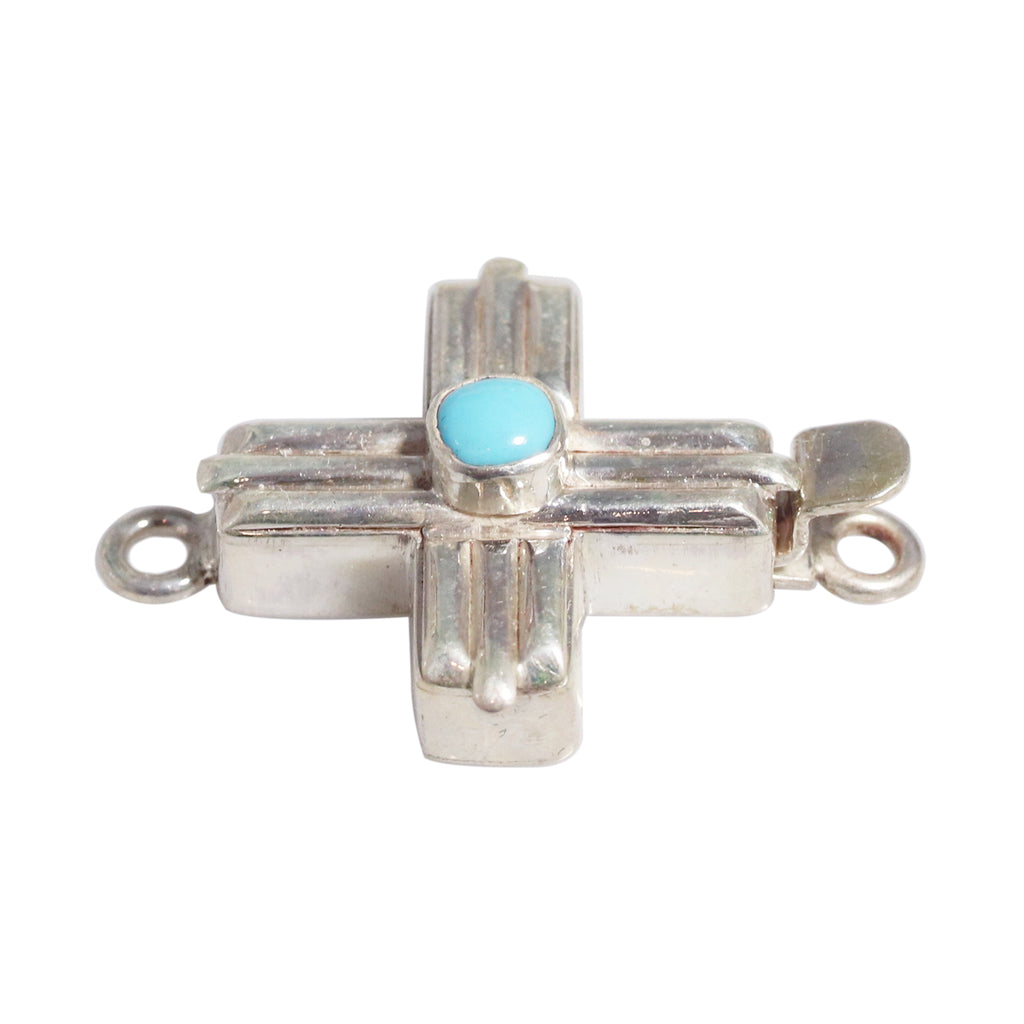 Mexican Turquoise Southwestern Cross Clasp
