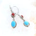 Coral and Sleeping Beauty TURQUOISE EARRINGS Sterling