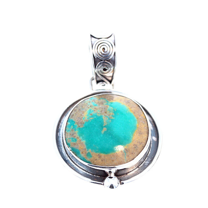 ROYSTON TURQUOISE Sterling Silver Round Sea Green