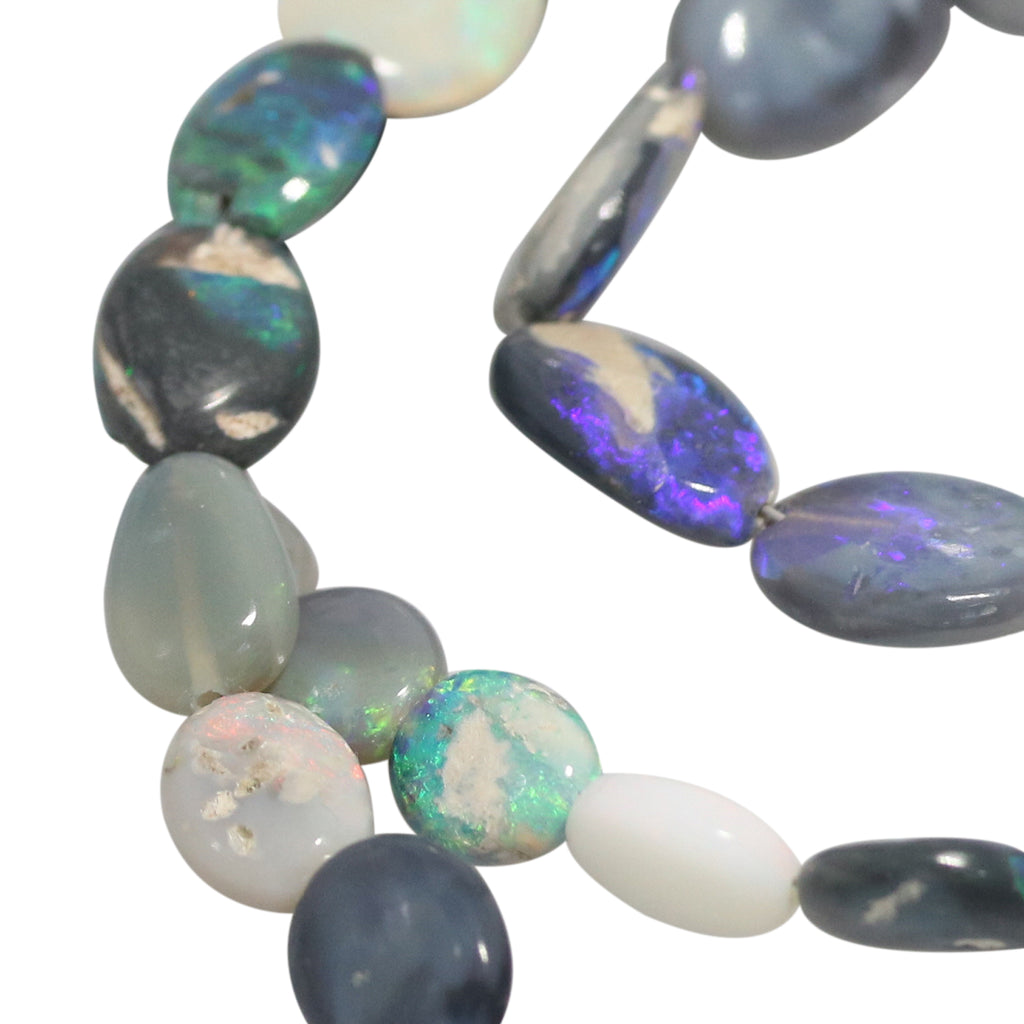 AUSTRALIAN OPAL BEADS Lightning Ridge Oval Free Forms