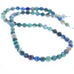 "Vintage Blue Bird ARIZONA AZURITE BEADS 8mm Round 16"" Strand Arizona"