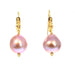 PEARL EARRINGS 22K Gold Edison Pearl Pink