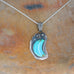 KINGMAN TURQUOISE Crescent Moon Pendant Necklace