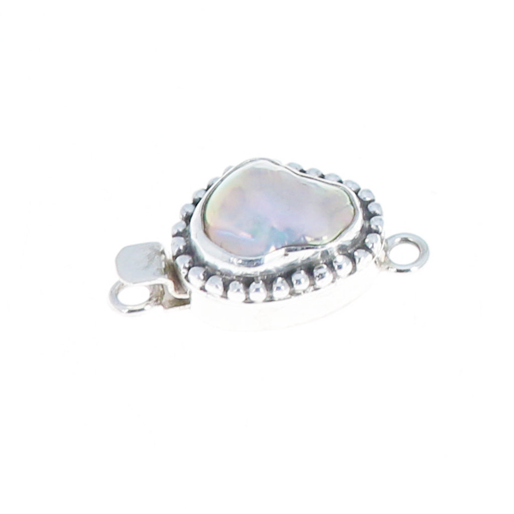 Free Form Pearl Clasp Natural Pink Granulated Design