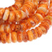 Bright Orange SPINY OYSTER Beads Rondelles 8mm 16""