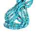 AAA Painterly Azure Blue Chrysocolla Beads Rondelles 10mm