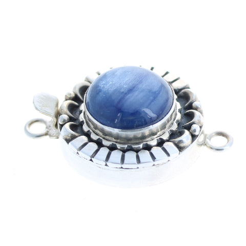 KYANITE CLASP Sterling Moon Petal Design 14.5mm Round