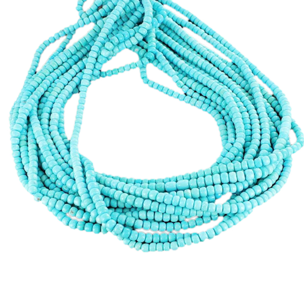 SLEEPING BEAUTY TURQUOISE Beads Pueblo Shaped 5mm 9""