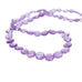 AMETHYST BEADS FACETED Coin Shape Graduated 8-10.8mm