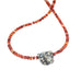 White Buffalo Turquoise and Red Spiny Oyster Necklace Southwest 17""