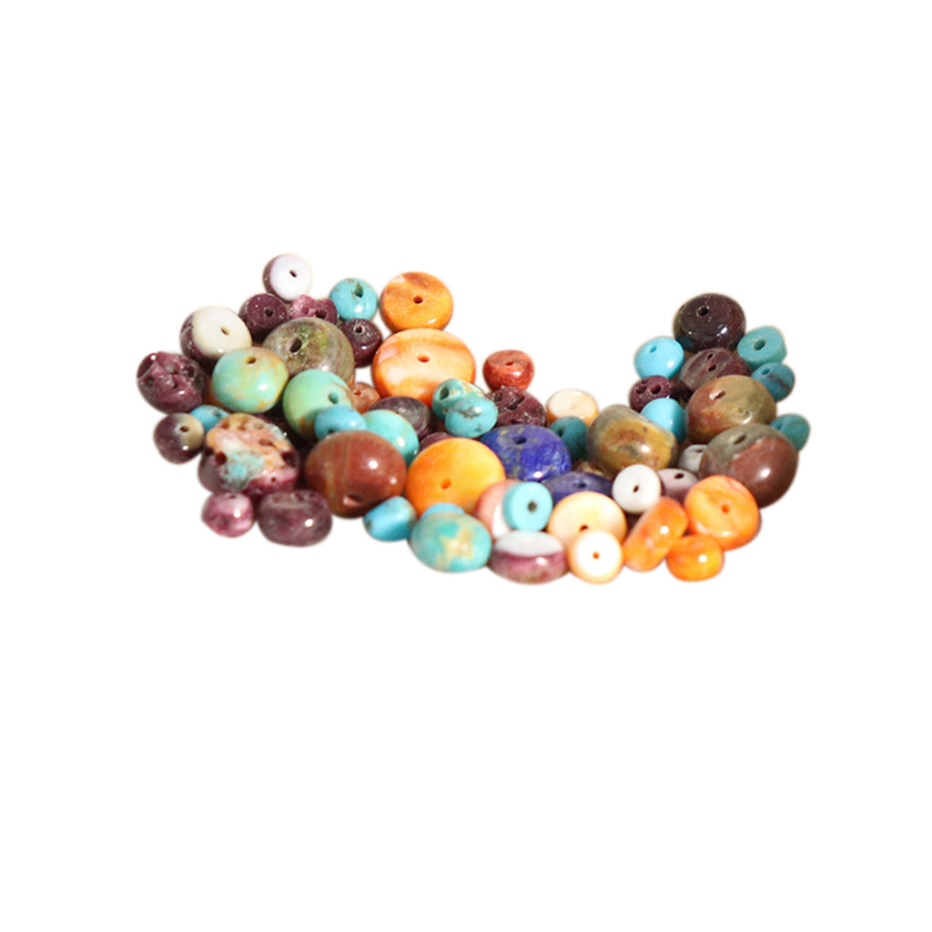 SOUTHWEST Mix Fiesta Spiny Turquoise Beads Rondelles 3-8mm 11 Gr