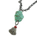 ANTIQUE CHINESE TURQUOISE NECKLACE SILVER 16.5""
