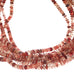 ANDESINE BEADS Smooth Rondelles Multi Shade Cherry Reds 3.5-5mm