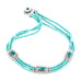 3 Strand TURQUOISE NECKLACE Carico Lake, Campitos Sterling