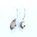 Brushed White Buffalo Turquoise Feather Earrings Sterling