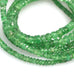 AAA TSAVORITE GARNET Beads Faceted Rondelles 2-4.5mm 18""