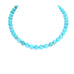AAA TURQUOISE NECKLACE Knotted 10mm Round Beads
