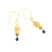 18K GOLD BLACK DIAMOND EARRINGS