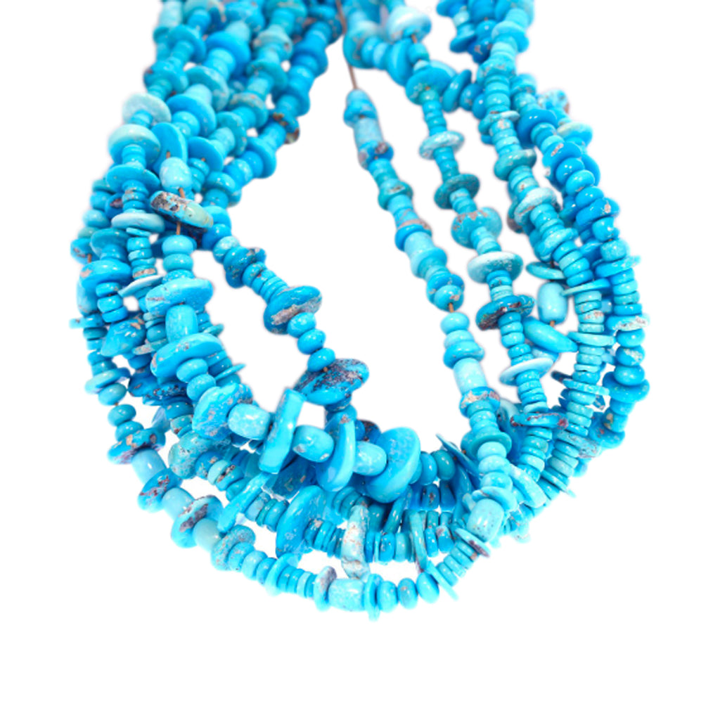 MIXED SHAPE GENUINE SLEEPING BEAUTY TURQUOISE BEADS LARGE