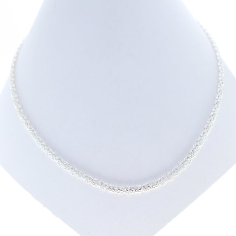 Sterling Silver Byzantine Chain Bright White
