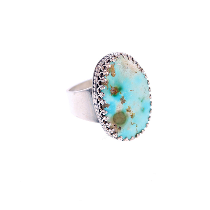 Sky Blue PERSIAN TURQUOISE Ring Sterling Size 7