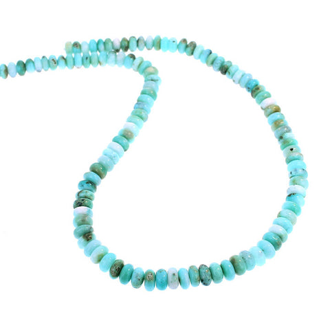 GEM SILICA BEADS Rondelles 8.5mm Light Sky Blue