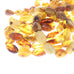 AMBER BEADS POTATO Shape 14-21mm Honey 16""