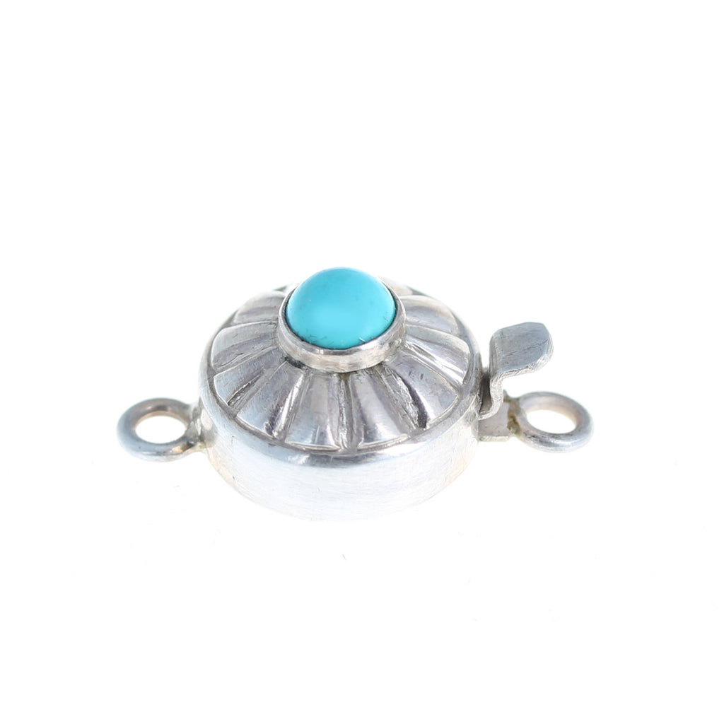 Sky Blue Sleeping Beauty Turquoise Clasp Southwest Button Design