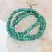 RARE AMERICAN FOX TURQUOISE BEADS Leaf Green 6mm
