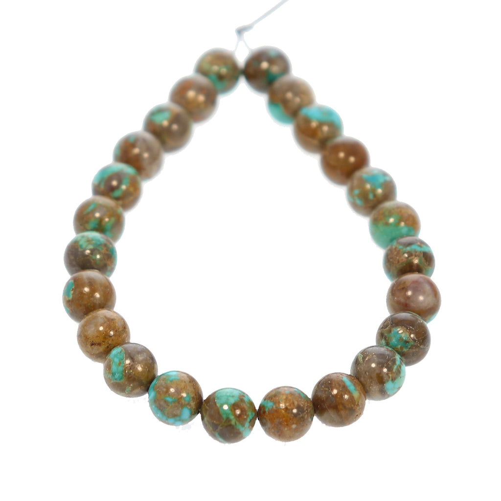 CARICO LAKE TURQUOISE Beads Multi Color Round 8mm 7.75""